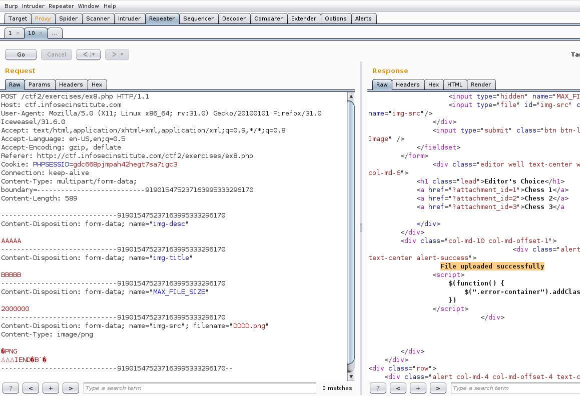 Infosec Institute CTF2 Practical Web Hacking Level 8